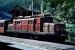 Crocodile HGe 4/4 15, Krokodil, Krok, Electric Locomotive, Brig, 1950s