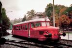 "RBe 2/4, Electric Express Powered Rail Car ""Red Arrow"", Rote Pfeil, single body light steel railcar, Swiss Federal Railways, Lucerne, 1950s, VRPV01P02_15.0587"