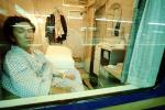 Passenger, Man, Sleeping Compartment, Train Station, Depot, Terminal, Japanese Bullet Train, Tokyo, VRPV01P14_14
