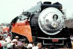 SP 4449, GS-4 class Steam Locomotive, 4-8-4, Southern Pacific Daylight Special, Spectators, crowds, VRPV02P01_06