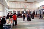 Train Station, Depot, People, inside, interior, building, Lijiang, China