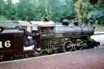 Harry J. Grant, coal-fired steam engine, 4-4-2, #1916, Milwaukee County Zoo, miniature rail, steamer, September 1970