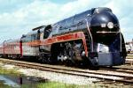 Chessie System, N&W J class steam #611 Streamliners, Spencer North Carolina, Railroad Tracks