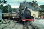 Australia, Steam loco #1072, 'The City of Lithgow', 4-6-2 ('Pacific'), express passenger engine, NSW Blue Mountains, Sydney, Pacific 231, Railroad Tracks, 1950s