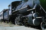 Sierra Railroad #28, Steam Locomotive, 2-8-0, Tuolumne, October 1963, 1960s