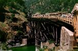 Crossing the Feather River, Feather River Railway, Open Railcars, June 1963, 1960s