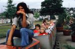 Bored Train Driver, Miniature Train, September 1973