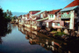 water, reflection, stream, Homes, buildings, houses, Singaraja Bali, CADV01P06_15.0895