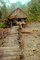 shack, grass thatched roof, Hut, stairs, Teleburn, western Sumatra