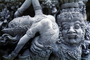 The Agony and the Magic of relationship, Man's struggle with Female, statue, statuary, Bali, Island of Bali