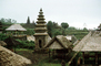 grass thatched huts, Hindu Temple, roofs, building