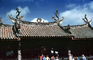 roof, Thian Hock Keng Temple, Taoism, building, dragons, statues, rooftop