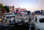 Cars, City Street Scene, Intersection, crowded, vespa, automobile, vehicles, Mumbai, CAIV01P13_16B