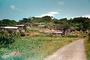 Village, Homes, buildings, dirt road, hill, Sasebo Saga, unpaved, 1950's, CAJV03P11_07.0635
