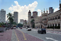 Sultan Abdul Samad Building, clock tower, street, cars, landmark, minarets, CAMV01P04_08