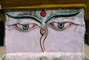 Buddha's Eyes, Stupa Boudhanath, Sacred Place, Kathmandu, Buddhist Shrine, temple, building, CANV01P04_04.0630