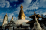 Swayambhunath Stupa, Dome, Kathmandu, Sacred Place, Buddhist Shrine, temple, building, CANV01P04_17.0630