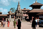 Vatsala Temple, Durbar Square, Statue of King Bhupatindra Malla, Bhaktapur, Nepal, Buildings, CANV01P08_19.3339