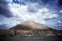 Teotihuacan, Pyramid of the Sun, clouds, Hidalgo