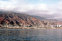 Homes, hillside, buildings, harbor, La Guaira, Maiquetia, Venezuela, CBVV01P01_13