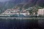 Navy Ships, dock, harbor, hillside, mountains, buildings, La Guaira, Maiquetia, Venezuela, CBVV01P01_18