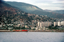 Docks, harbor, hillside, homes, buildings, mountains, waterfront, La Guaira, Maiquetia, Venezuela, CBVV01P03_15