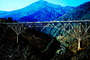 Upside down truss bridge, valley, hills, mountains, CCAV01P02_01.0639