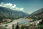 River, buildings, valley, mountains, CCAV01P10_05