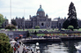 British Columbia Parliament Buildings, seat of the Legislative Assembly of British Columbia, Victoria, waterfront