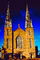 Ottawa's Notre-Dame Cathedral Basilica, twin spires, steeples, landmark building