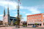 Ottawa's Notre-Dame Cathedral Basilica, twin spires, steeples, building, landmark