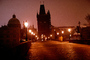 Charles Bridge, Lesser Town Bridge Tower, landmark, Twilight, Dusk, Dawn, Vltava River, CECV02P09_11.0644