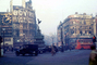 Piccadilly Circus, landmark, Cars, Doubledecker Bus, Wrigley's, 1940's, CEEV01P01_01.2039
