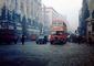1940's, downtown London, Selfridge Dept. Store, Oxford Street, Doubledecker Bus, cars, 1950's, CEEV01P01_03.2039