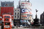 Piccadilly Circus, Roundabout, Angel Statue, Doubledecker Bus, CEEV05P09_15