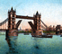 Tower Bridge, London, River Thames, 1800's, CEEV07P04_15