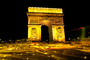 The Arc de Triomphe in the night, nighttime, CEFV01P06_11