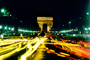The Arc de Triomphe in the night, nighttime, CEFV01P06_15