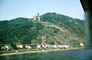 Castle, Church, Cathedral, Homes, Houses, Village, Town, Rhine River, South of Koblenz, (Rhein), 1950's, CEGV03P11_07
