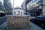 Checkpoint Charlie, Berlin, Sandbags, US Army, Guardhouse, buildings, landmark, CEGV04P13_02