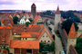 Towers, homes, houses, buildings, Town Wall, Rothenburg ob der Tauber, Middle Franconia, Ansbach, Bavaria