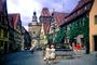 Tower, homes, houses, buildings, Rothenburg ob der Tauber, Middle Franconia, Ansbach, Bavaria
