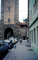Sidewalk, Cars, Rothenburg ob der Tauber, Bavaria, Middle Franconia, Ansbach, car, vehicle, automobile