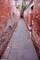 Path, Pathway, Alley, Alleyway, Red Brick Walls, Convergence, Converging Lines, Venice, CEIV01P15_17.0896