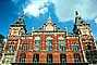 Amsterdam Central Station, Centraal Station, Building, Brick, Red, Clock Towers, CENV01P03_08