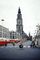 Tower, Building, Crosswalk, Bicycles, Buses, Street, Groningen, September 1959, 1950's, CENV01P09_01