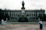 Royal Palace of Madrid, equestrian statue of King Felipe IV, horse, Sculpture, statuary, Water Fountain, art, Palacio Real, landmark building, CEOV01P01_04