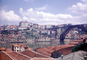Dom Luis I Bridge, double-decked metal arch bridge, red roofs, skyline, buildings, Douro River, Porto, CEPV01P09_07