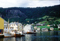 Waterfront, Boats, Docks, houses, mountain, fjord, CEVV01P15_13
