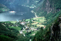 Fjord, Buildings, Docks, Waterfront, Harbor, Geiranger, municipality of Stranda, CEVV02P01_11
